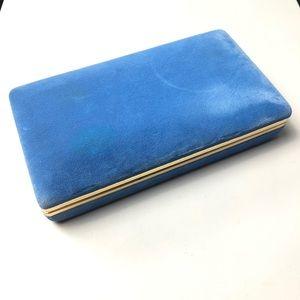 Vintage Blue Velvet Jewelry Organizer